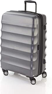 Antler 4507123016 Juno Metallic DLX 4W Medium Roller CASE, Charcoal, 68 cm