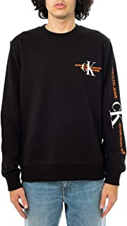 Calvin Klein Jeans Urban Graphic Logo Crew Neck Men's Sweatshirt J30J318307 BEH CK Black