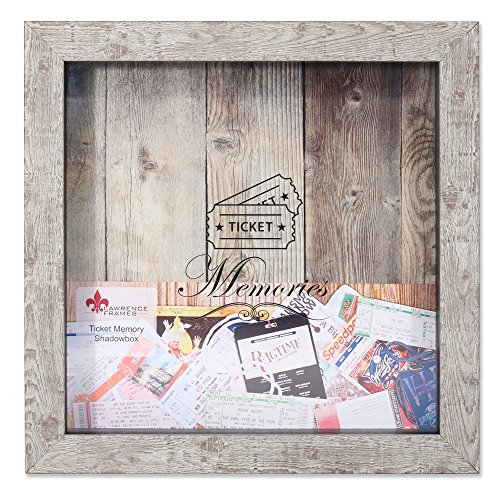 Lawrence Frames Birch 10x10 Weathered Shadow Box Ticket Holder