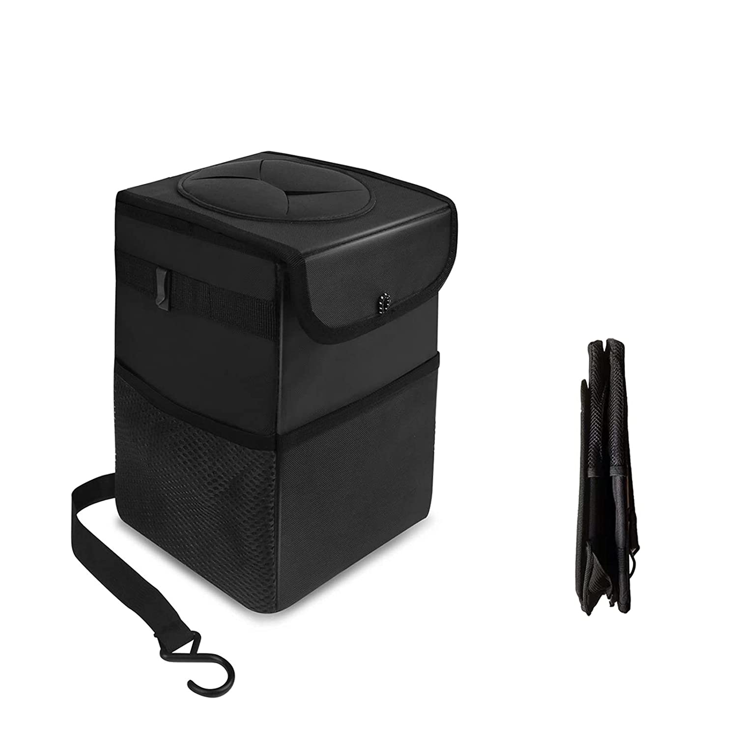 RIOBOW Car Trash Can with Lid Proof Challenge the lowest price of Japan ☆ and Storage Pockets Omaha Mall Leak