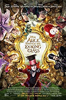 ALICE THROUGH THE LOOKING GLASS (2016) Original Authentic Movie Promo Poster 13x19 - Single-Sided - Johnny Depp - Mia Wasikowska - Anne Hathaway - Helena Bonham Carter