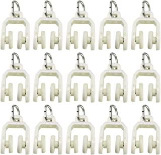 14 Per Pack RV Designer A101 Fits I Beam Track Window Covering Hardware Nylon Two Wheel Carrier