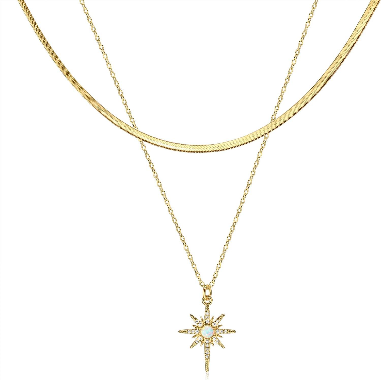 14K Gold Plated Snake Chain Necklace Herringbone Choker Necklace Dainty Minimalist Jewelry for Women Teen Girls 1/2/3/4mm(W) 16