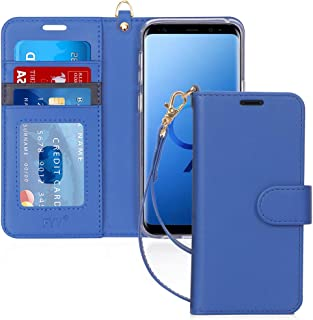FYY Case for Samsung S9, Luxury PU Leather Galaxy S9 Wallet Case, [Kickstand Feature] Flip Folio Case Cover with [Card Slo...