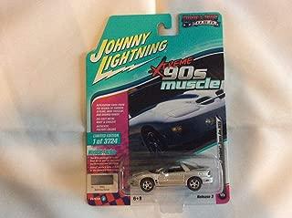 1999 Pontiac Firebird Trans Am WS6 Sebring Silver 90's Muscle Limited Edition to 3,724 Pieces Worldwide 1/64 Diecast Model Car by Johnny Lightning JLMC014/ JLSP028 B