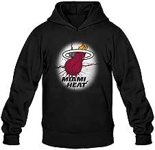 Men's Basketball Team Miami Heat News Logo Hoodie Black XX-Large