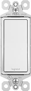 Legrand-Pass & Seymour TM873WCC10 3-Way 15 Amp Single Pole/3-Way Rocker Wall Light Switch, Three, White