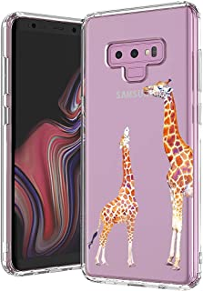 MOSNOVO Galaxy Note 9 Case, Cute Giraffe Printed Pattern Clear Design Transparent Plastic Hard Back Case with TPU Bumper Protective Case Cover for Samsung Galaxy Note 9