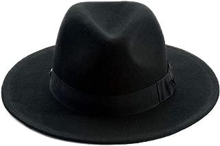 Soho Fedora Wool Felt Wide Brim Hats with Bow Trim