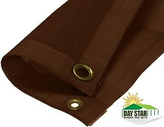 DAY STAR SHADES 8X12 (Brown) HD Mesh Tarp Net Sun Shade Fence Screen Patio Canopy Top