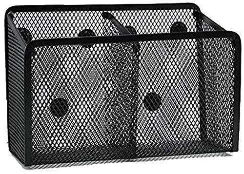 FLYAND Caja de Almacenamiento Titular de la Pluma magnética 2 Compartimento Espacioso Canasta de Almacenamiento magnético Caja de Almacenamiento Super Magnet Mess Pen Holder Puede acomodar la