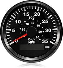 ELING GPS Speedometer Speedo Gauge 0-35MPH for Boat Yacht Vessel 3-3/8'' (85mm) 9-32V