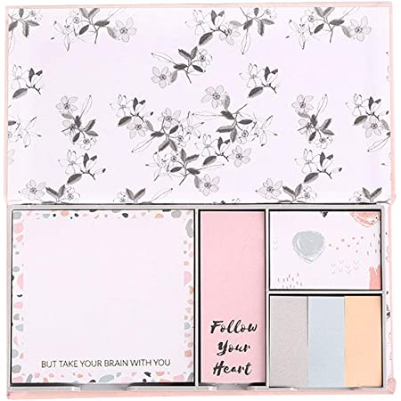 Pretty Pink Feather Sticky Notes