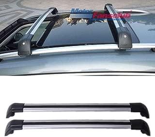 MotorFansClub Roof Rack Luggage Rack Rail Cross Bar for Volkswagen VW Tiguan 2010-2016 Silver Aluminum