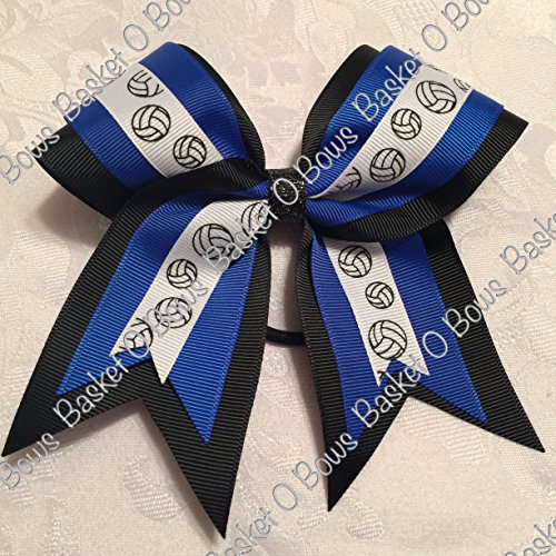 Small Bow ~ VOLLEYBALL Hair Bow ~ 3-layer ~ Made to Order