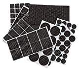 Non Slip Furniture Pads - Furnigear Premium 129 Pack Furniture Grippers Adhesive Furniture Felt Pads, Silicone Points Surface Keep in Place Furniture - Best Floor Protectors