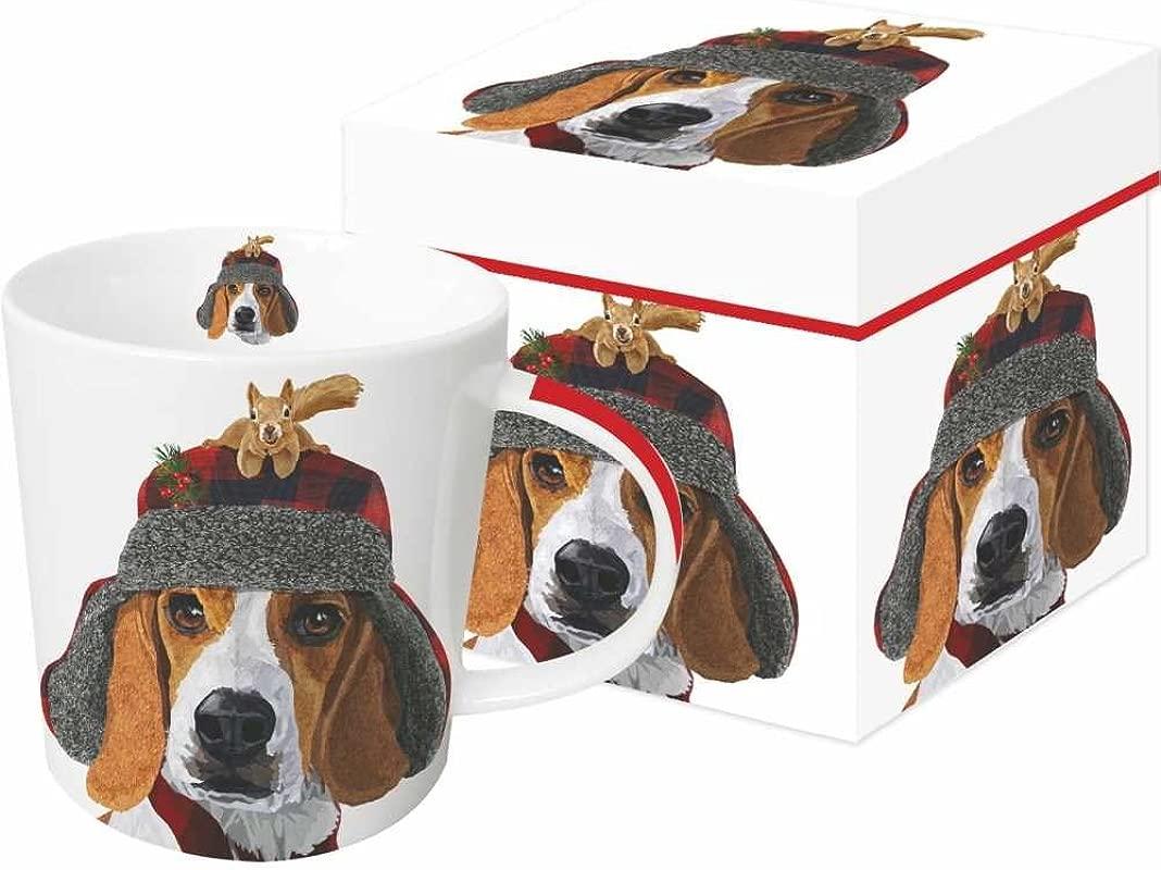 Paperproducts Design 603198 Oliver Gift Boxed Mug 13 5 Oz Brown