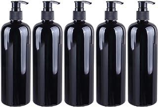 Solustre 500ml Shampoo Bottles Soap Dispenser for Kitchen Bathroom Refillable Bottle Jar with Pump for Dish Detergent Esse...