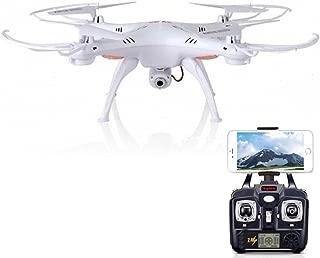 Syma X5SW Explorers2 2.4G 4CH 6-Axis Gyro RC Headless Quadcopter with 2MP HD Wifi Camera (FPV) White Fpv drone
