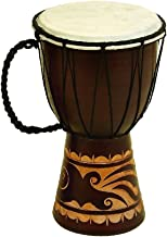 Deco 79 89848 Wood & Leather Djembe Drum