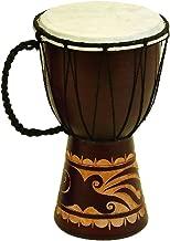 Deco 79 89848 Wood & Leather Djembe Drum