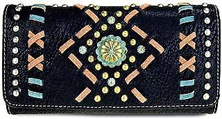 Montana West Tr-Fold Aztec Wristlet Wallet