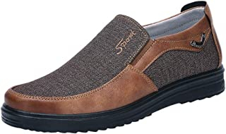Caopixx Shoes for Men's Loafers Lightweight Driving Shoes Soft Penny Casual Snow Shoes