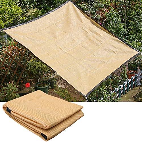 Toldo Vela de Sombra con Ojal Exterior Anti-UV Lona de Sombra Resistente Al Desgarro 95% Bloqueador Solar Valla de Privacidad Pabellón Cobertizo Refugio, 8 Tamaños ALGFree