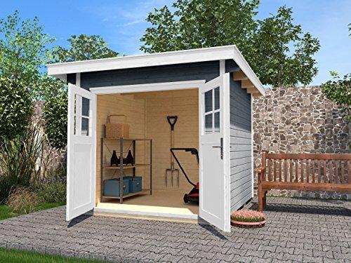 weka Gartenhaus 179 Gr. 3, grau, 28 mm, DT