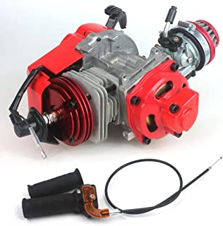 49cc 52cc Big Bore Pocket Bike Engine with Performance Cylinder CNC Engine Cover Racing..