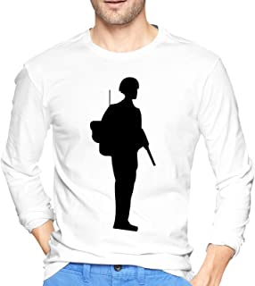 06 Soldier Field Uniform Female Asian Men's Crew Neck T Shirts Casual Fall Long Sleeve Cotton