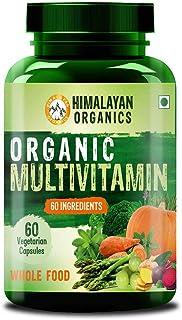Himalayan Organics Organic Multivitamin with 60+ Certified Organic Extracts - 60 Vegetarian Capsules (60)