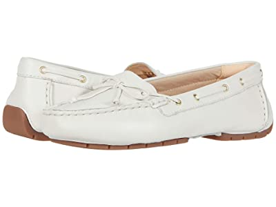 Clarks C Mocc Boat (White Leather) Women