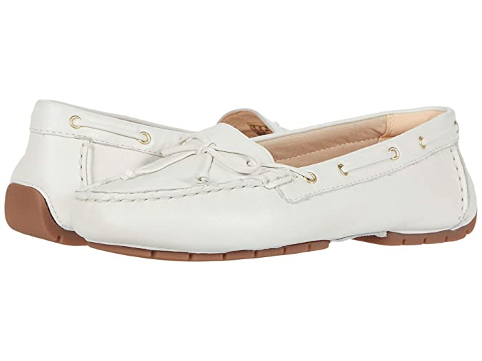 Clarks  C Mocc Boat (White Leather) Womens Shoes