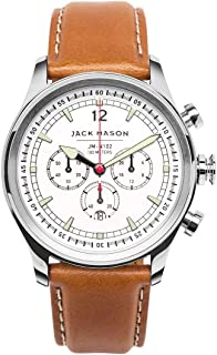 chronograph watch leather strap