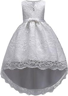 83134d99279ee HUAANIUE Robe de Fête Élégance Réduction Fille Mariage Cérémonie Soirée  Demoiselle d Honneur Taille Princesse
