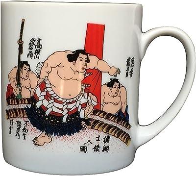 日本の心シリーズ マグカップ 相撲 土俵入り 陶器 美濃焼