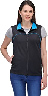 Scott International Women's Premium Rich Cotton Sleeveless Jacket - Black