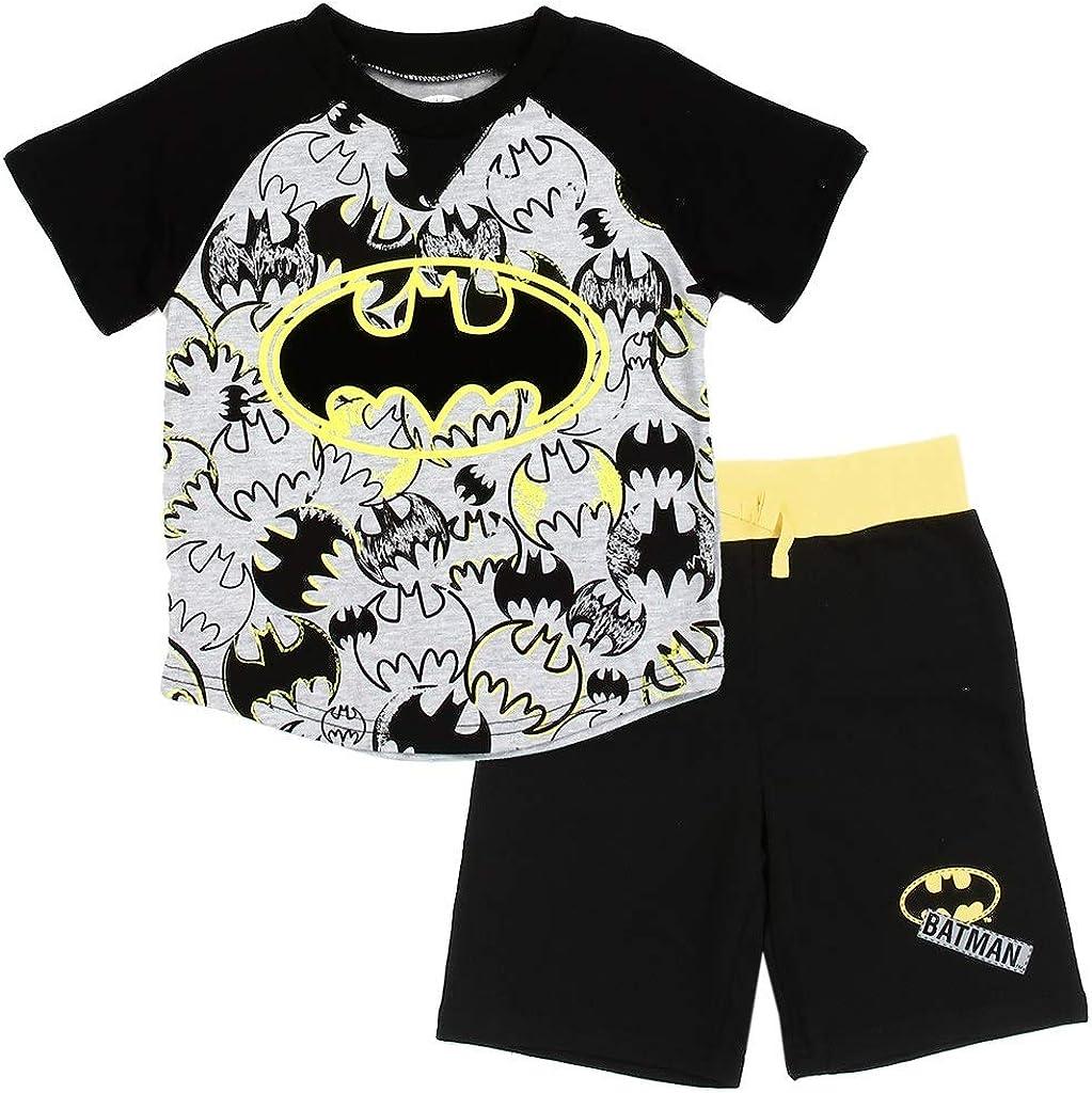 Little Boys' Toddler Batman Knit Shorts Set