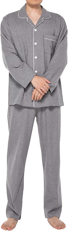 JSTEX Mens Genuine Popular popular Free Shipping Pajamas Set for Men Flannel Sets Cotton 100% Pjs Pant
