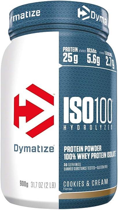 Proteine in polvere prima e dopo allenamento - dymatize iso 100 isolato -biscotto&crema - 900 gr 25187401