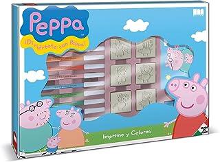 Peppa Pig – Set Créatif – Tampons, Feutres, Carnet à Dessin, Règle