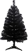 S-SSOY 3 Foot Christmas Trees Artificial Xmas Pine Tree with PVC Leg Stand Base Home Office Holiday Decoration (Black)