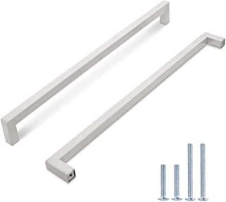 Probrico Long Stainless Steel Cabinet/Cupborad Pulls 12-3/5 Inch Hole Spacing Kitchen Handles Brushed Nickel 13-1/4 Inch O...