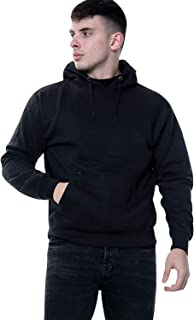 True Face Mens Hoodie Pullover Classic Hooded Top Plain Ribbed Cuff Long Sleeve Sweatshirt Pull Over Hoody