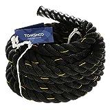 TOMSHOO Cuerda de Batalla Battle Rope Cuerda Fitness Formación Ejercicio de Diámetro de 38mm Longitud de 10m