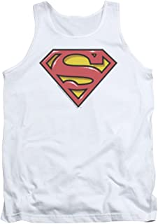 8b7c322ee7f4f7 Superman Airbrush Shield Unisex Adult Tank Top for Men and Women