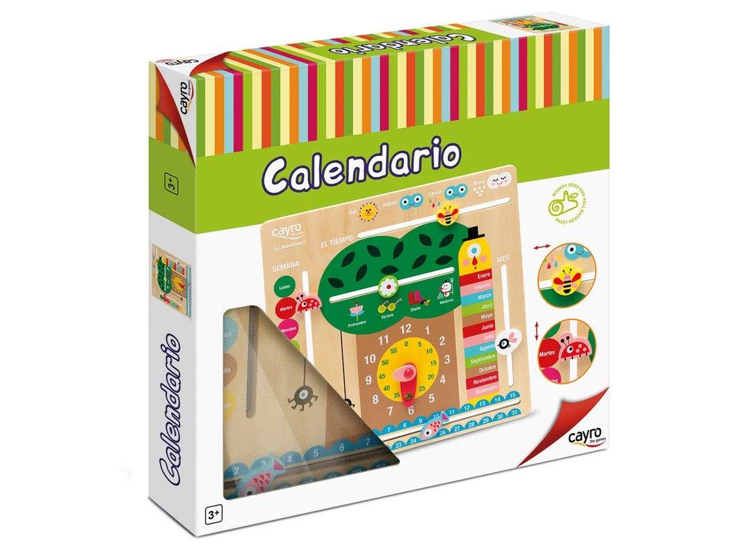 Cayro -Calendario - Juego para bebés - Desarrollo de Habilidades cognitivas - Juego de Mesa (8117): Amazon.es: Juguetes y juegos