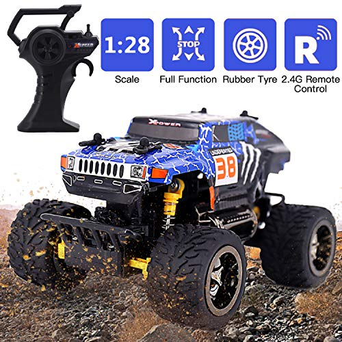 Remote Control Car, RC Car 2.4GHZ High Speed Fast RC Racing Car Toys, 1:28 Scale All Terrain Off Road Radio Control Trucks Toy Gifts Kids Cars for Boys & Adults