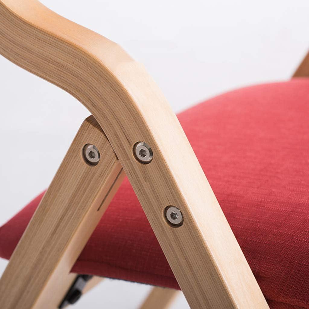 Home warehouse Chaises de réception, chaises de Coin, Cuisine Pliable, Chaise de Repos, Chaise de Repos, Tissu de Coussin Doux 41 * 46 * 78,5 cm,G H